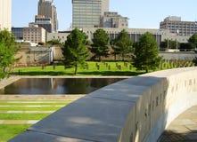 Oklahoma City Bombing Memorial. Wall and Pool Stock Photos