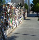 Oklahoma City Bombing Memorial. Notes of love to those who lost their lives Stock Image