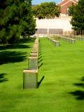 Oklahoma City Bombing Memorial. Chairs Royalty Free Stock Photo