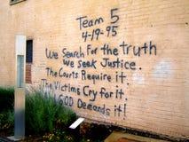 Oklahoma City Bombing Memorial. Wall Royalty Free Stock Photo