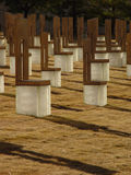 Oklahoma City Bombing Memorial. Vertical photo of the Oklahoma City Bombing Memorial stock images