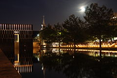 Oklahoma City National Memorial. In Oklahoma City, Oklahoma.  Site of the bombing attack where 168 people were killed, including 19 children Stock Photography