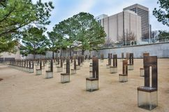 Oklahoma City nationell minnesmärke i Oklahoma City som är reko arkivbild