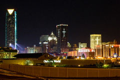 Oklahoma City at night Stock Images