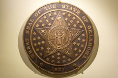 Great seal of the state of Oklahoma stock photography