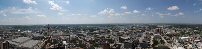 Oklahoma City Skyline. This is a picture of the oklahoma city skyline from up really high.  You can see far Stock Photos