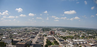 Oklahoma City Skyline. This is a picture of the oklahoma city skyline from up really high.  You can see far Royalty Free Stock Image