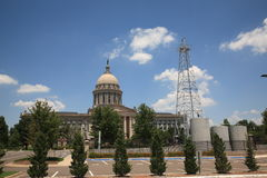 Oklahoma City State Capitol Building. The state capitol building in Oklahoma City, with famous oil well Stock Photography