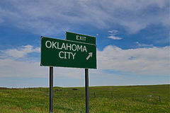 Oklahoma City. US Highway Exit Sign for Oklahoma City Royalty Free Stock Images