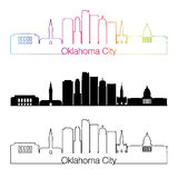 Oklahoma City V2 skyline linear style with rainbow Stock Photography