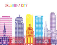 Oklahoma City_V2 skyline pop Royalty Free Stock Photography