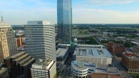 Oklahoma- Citybrummenantennenvideo stock footage