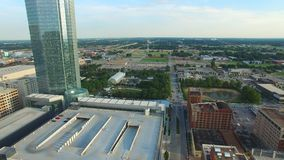 Oklahoma- Citybrummenantennenvideo stock video footage