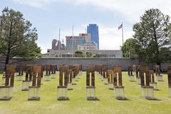 Oklahoma cityNationalminnesmärke arkivfoton