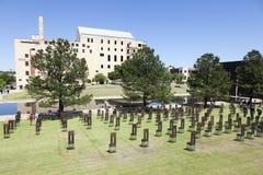 Oklahoma cityNationalminnesmärke royaltyfri fotografi
