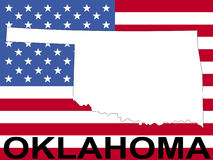 Oklahoma on flag Stock Image