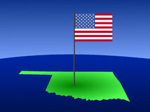 Oklahoma with Flag Royalty Free Stock Images