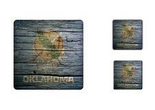 Oklahoma Flag Buttons Royalty Free Stock Photos