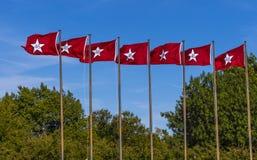 Oklahoma Flags at State Capitol in Oklahoma City. USA 2017 Stock Photos