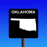 Oklahoma highway sign Royalty Free Stock Photography