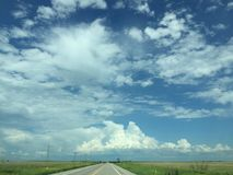 Oklahoma himmel arkivbilder