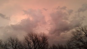 Oklahoma-Himmel Lizenzfreie Stockfotos