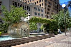 Oklahoma miasta fontanna Zdjęcia Royalty Free