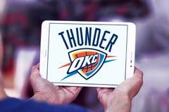 Oklahoma miasta grzmotu drużyny koszykarskiej logo Fotografia Royalty Free