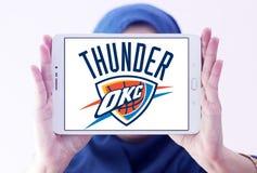 Oklahoma miasta grzmotu drużyny koszykarskiej logo Zdjęcia Stock