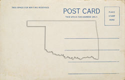 Oklahoma Postcard Royalty Free Stock Images