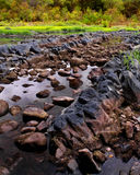 Oklahoma Rockbed. A bed of rocks with water running through them stock photos