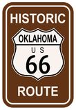 Oklahoma Route 66 histórico Fotos de archivo libres de regalías
