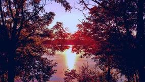 Oklahoma solnedgång arkivfoton