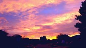 Oklahoma-Sonnenuntergang Stockfotos