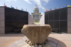 Oklahoma-Staatskapitol, das USA errichtet Stockfotos