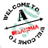 Oklahoma stamp rubber grunge Stock Images