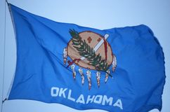 Oklahoma stan Flaga zdjęcia stock