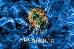 Oklahoma stanu dymu flaga, Stany Zjednoczone Ameryka obraz stock