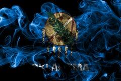 Oklahoma stanu dymu flaga, Stany Zjednoczone Ameryka fotografia stock
