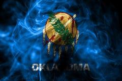 Oklahoma stanu dymu flaga, Stany Zjednoczone Ameryka zdjęcia stock