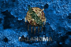 Oklahoma stanu grunge flaga, Stany Zjednoczone Ameryka fotografia stock