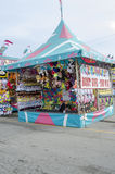 Oklahoma state Fair balloon Pop booth. This is a Oklahoma state fair balloon pop booth with lots of prizes royalty free stock photo