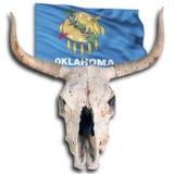 Oklahoma State Flag. Oklahoma State flag and cow skull Stock Photos