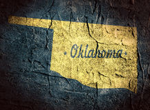 Oklahoma state map Royalty Free Stock Image
