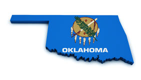 Oklahoma State Map Shape Royalty Free Stock Image