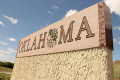 Oklahoma State Sign. With blue sky in background Royalty Free Stock Photos