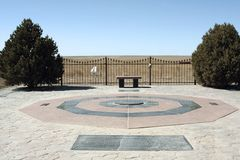 Oklahoma State University Memorial. A memorial to the men who died on January 27, 2001 when their plane crashed near Byers, Colorado. The plane was one of three Royalty Free Stock Images