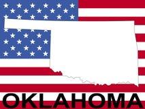 Oklahoma sulla bandierina illustrazione di stock