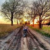 Oklahoma Sunset Adventure stock photo
