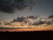 Oklahoma sunset. Sunset horizon natural beauty Royalty Free Stock Photos